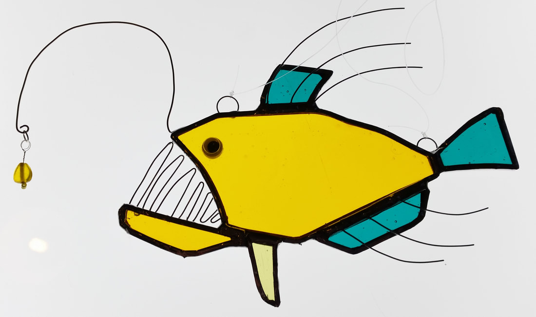 Yellow glass angler fish