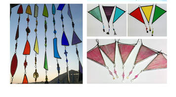 Stained glass rainbow bunting